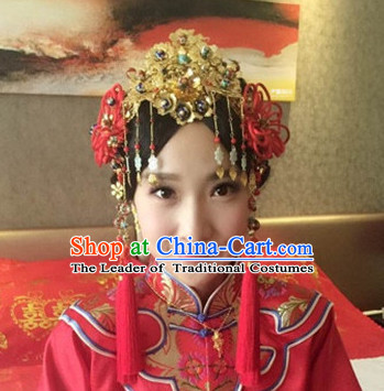 3d441b65a Top Chinese Traditional Wedding Bridal Phoenix Coronet Crown Headpieces  Hair Jewelry Bridal Hair Clasp Hairpins Set