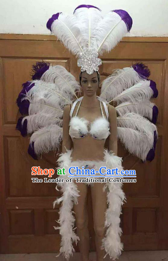 Top Grade Professional Performance Catwalks Costume White