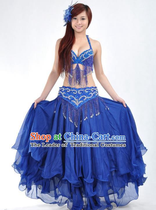 a18082a8832e Indian Belly Dance Royalblue Costume India Raks Sharki Dress Oriental Dance  Clothing for Women