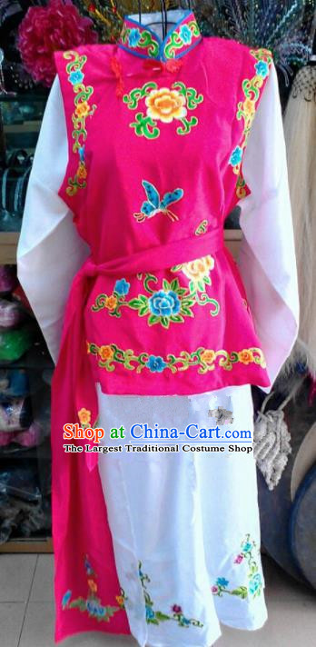 b2968b094 Chinese Traditional Beijing Opera Maidservants Rosy Dress Peking Opera  Young Lady Costume for Adults